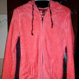 Women's fuzzy no boundaries med zip light jacket